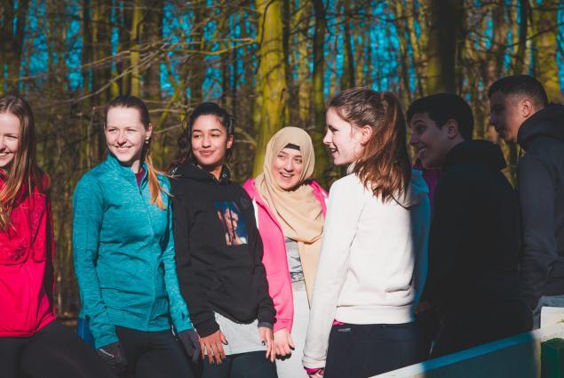 Deelnemers van het projecten Young impact