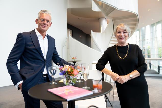Marie Helene Cornips naast Henk Christophersen