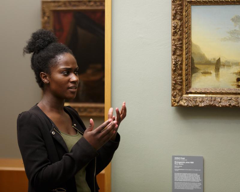 Mbo-student bezoekt Museum Boijmans Van Beuningen